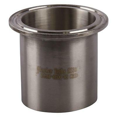 "Long Weld Ferrule | Tri Clamp 2"" x 56mm - Sanitary Stainless Steel 304 (2 Pack)"