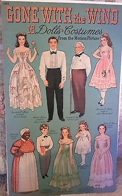 1940  Merrill Publishing Uncut  GONE WITH THE WIND Paper Dolls & Costumes MINT