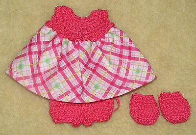 """Cotton Print Outfit fits 5 1/2 to 6"""" Polymer Clay Silicone Babies #32"""
