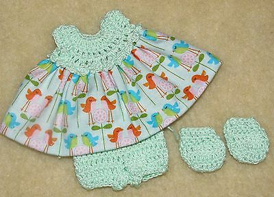 """Cotton Print Outfit fits 5 1/2 to 6"""" Polymer Clay Silicone Babies #33"""