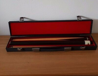 3 Piece Pool Snooker Cue In Case