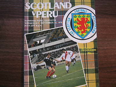 Scotland v Peru 1979 International Match Programme (B)
