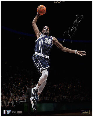 "KEVIN DURANT Signed ""Lightning"" 16 x 20 Photograph LE 35 PANINI"
