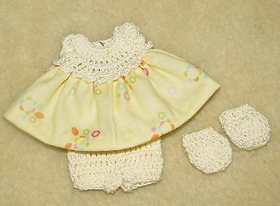 """Cotton Print Outfit fits 5 1/2 to 6"""" Polymer Clay Silicone Babies #41"""