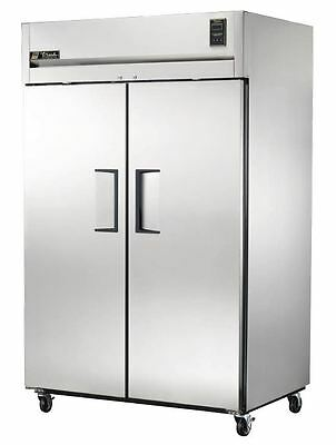 True Commercial Stainless Steel TG2R-2S| Refrigerator 2 Solid Doors 2 Sec. 56CuF