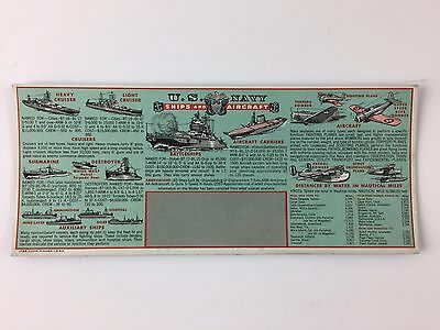 Vintage ink blotter card military U.S. Navy Ships and Aircraft WW2