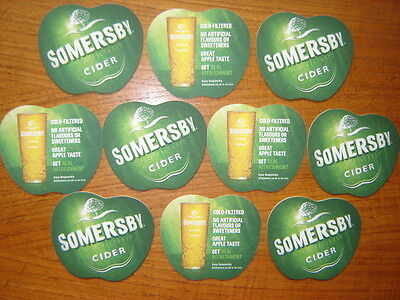 Pack  Of 10  Somersby  Cider  From  Carlsberg  Beer  Mats  /  Coasters   New