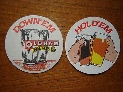 2  Oldham  Brewery   Beer  Mats / Coasters   New