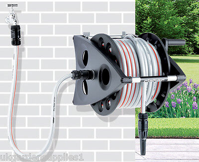 30m Hose and Reel - Hose Pipe with Reel - Garden Water Pipe