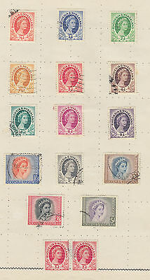 A very nice old Rhodesia & Nyasaland QE2 page to 5 Shillings