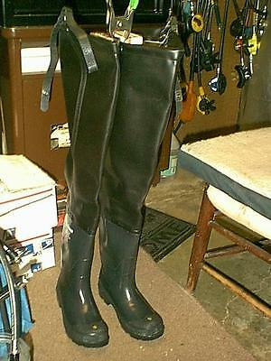 New Black Lacrosse  Hip Boots Waders Men 9 Usa Made