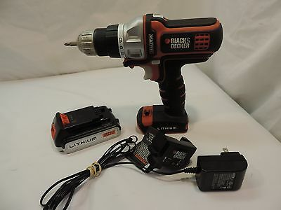 Black And Decker Cordless Matrix 20V Max 1/2 Drill W/battery And Charger ^^