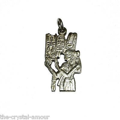 EGYPTIAN ISIS SOLID SILVER PENDANT ~ FROM EGYPT 28x15mm.