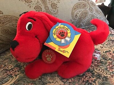 Rare New Clifford the Big Red Dog 35th Birthday plush Scholastics Side Kicks #C2