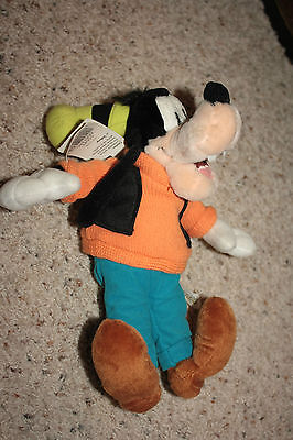 "NEW Disney World Disneyland Plush Beanbag GOOFY 10"" Tall NWT E1"