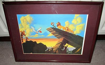 Disney Store The Lion King Lithograph