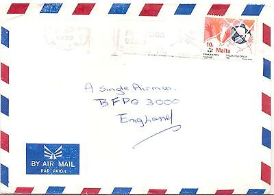 Malta an unusually addressed cover to England