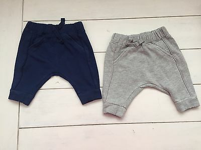 NEXT BUNDLE 4 PAIRS BABY BOYS SOFT JOGGERS AGE 0-3 Mths FREEPOST