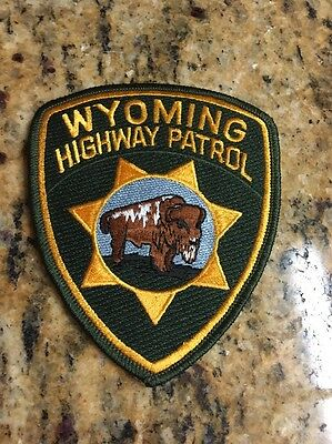 """Wyoming Highway Patrol  Patch - 4 3/4"""" x 3 7/8"""" - NEW"""