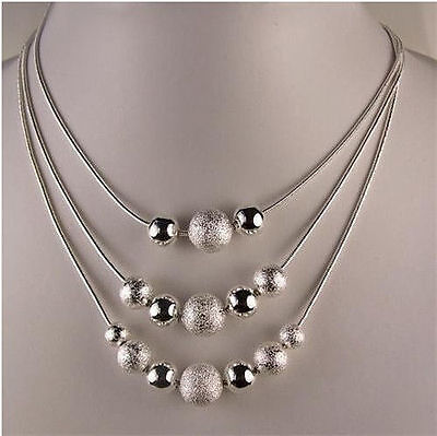 Fashion Gifts 925Sterling Solid Silver Jewelry Charm Pendant Necklace Chain