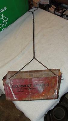 IH International Harvester Advertising Dust Pan Grummert & Son Edgar Nebraska