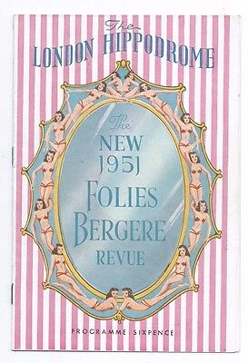 The London Hippodrome.New 1951 Folies Bergere Revue.Tommy Cooper.
