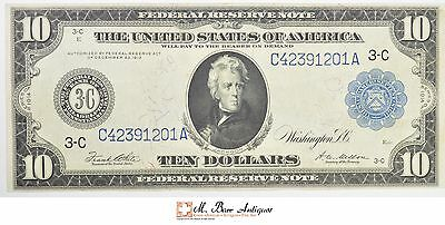 1914 $10.00 Federal Reserve Note Large Size Horseblanket Note *249