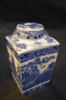 Large Blue & White Ringtons Tea caddy Tea Jar