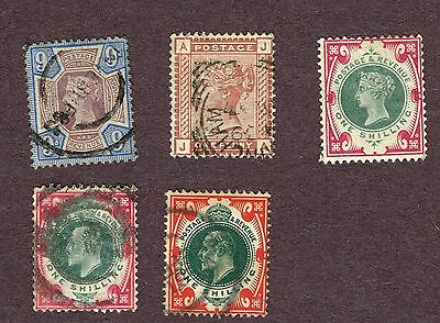 Great Britain Gb 138 126 F-Vf Used And One Unused No Gum(Fay22