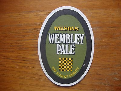 VINTAGE  WILSONS  BREWERY WEMBLEY  PALE  BBCS  No.53   BEER  MAT / COASTER   NEW