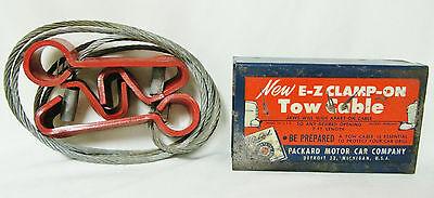 Ford Tool 1950 Packard Motor Car Tow Cable Vntg Accessory in Orig Metal Sleeve