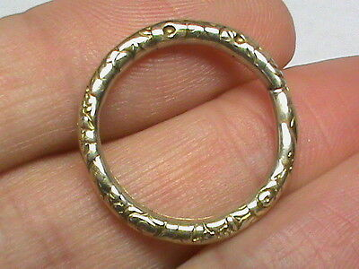 BIG Antique Georgian Victorian 9k 9ct gold Split Ring for seal watch Key Fob