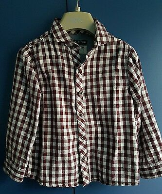 Boys Next Checked Shirt Size 3-4 Years