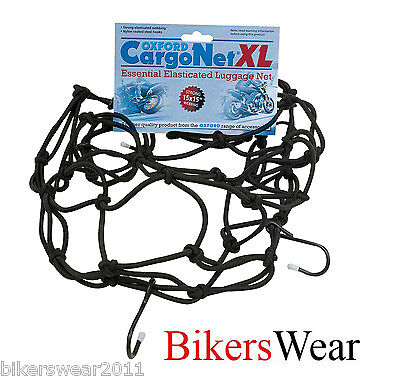 Oxford Cargo Net XL 17x17'' Black Essential Motorcycle Elasticated Luggage Net