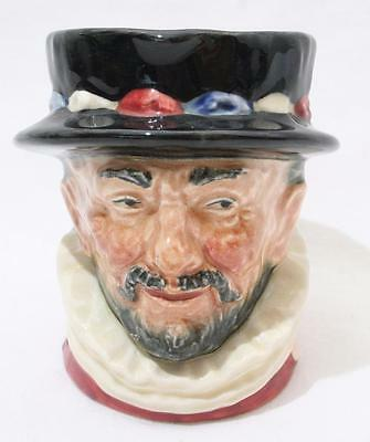 """Antique Royal Doulton Character Toby Jug Early A Backstamp - Beefeater 3 1/4"""""""