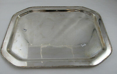 "Heavy Sterling Silver Tray - 17"" x 12.50"" - 1402 grams"