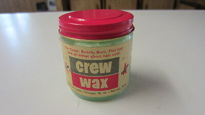 Vintage Hair Crew Wax Bottle w/ Label & Partial Contents, Crew, Butch & Flat Top