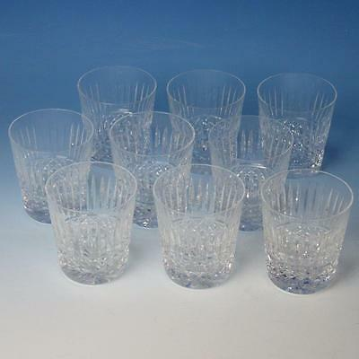 """Waterford Crystal - Maeve Tramore - 9 Double Old Fashioned Flat Tumblers - 3½"""""""