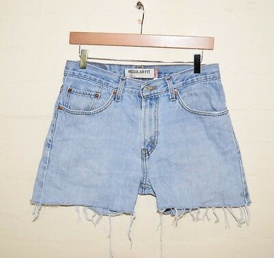 Vintage Womens Levis Denim Shorts Cut Off Hot Pants Levi Strauss Stonewash W 32