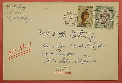 1965 Libya Tripoli Multi Franked Air Mail Cover To Usa