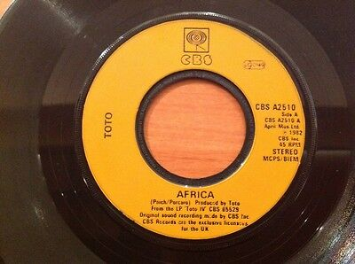 TOTO / 1982 Vinyl 45rpm Single / AFRICA / WE MADE IT