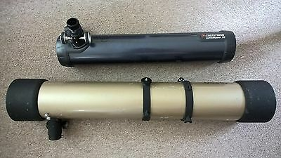 Celestron Astromaster 76mm and Tasco Luminova 114mm telescope