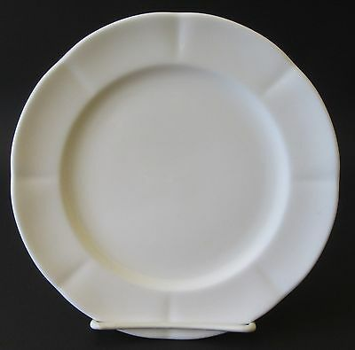 Block Windsor Bone Bread & Butter Side Plate All White Scalloped Rim 1991-2004