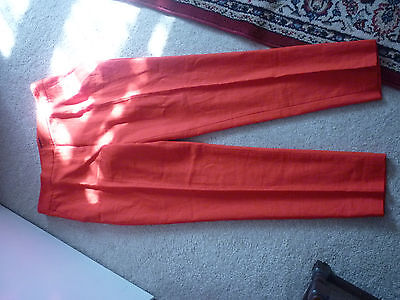 New (With Tags) Red Capri Style Trousers. Size 14. Papaya.