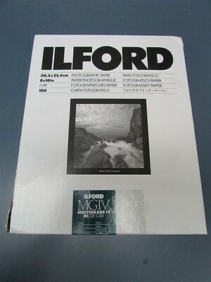 New Ilford Multigrade IV RC Deluxe Pearl 8x10 100 Sheets