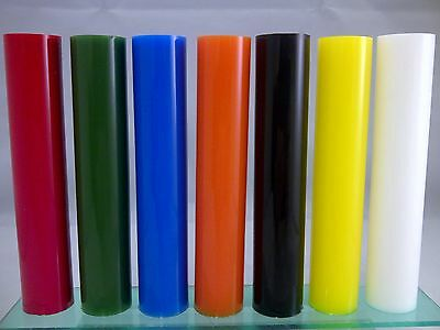 Acrylic 19Mm Diameter Perspex Colour Round Solid Bar Red Orange Black Yellow Wht