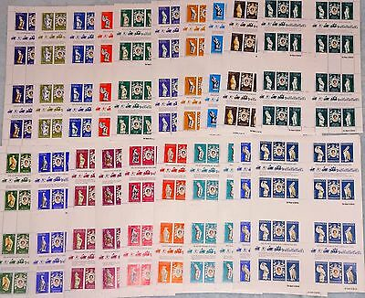 25th anniversary of the Queens coronation. 20 full stamp sheets