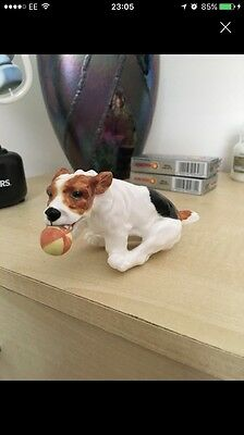 Royal Doulton Scamp Dog With Ball