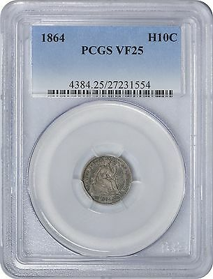 1864 Liberty Seated Half Dime VF25 PCGS Very Fine 25