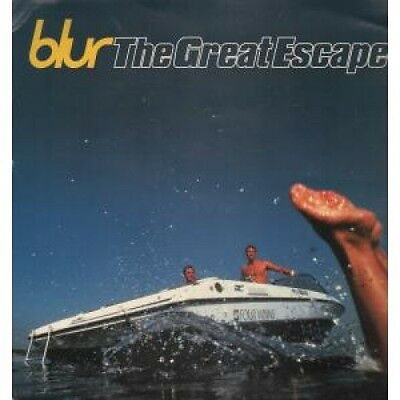 """BLUR Great Escape CARD US Virgin 1995 12""""X12"""" Double-Sided Promo Display Card"""